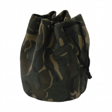 Tabakbeutel Zugbeutel Canvas Camouflage Kautschukfutter