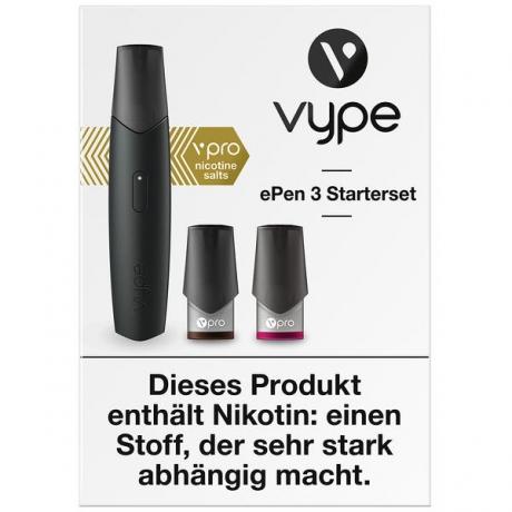 Vype ePen3 Starterset Schwarz 12mg vPro 2 Caps