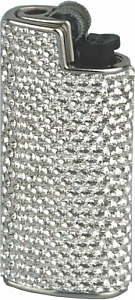 Feuerzeughülle mit Swarovski Elements Weiß C