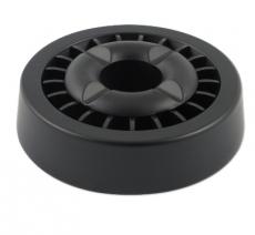 Aschenbecher Windascher Gluttöter Funktion ganz in schwarz