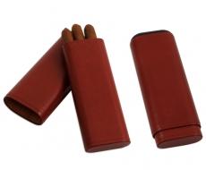 Zigarrenetui 3er Leder Antik Zedernholz 17x6x2