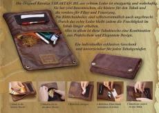 KAVATZA TP1 Classic Tabaktasche Tabakbeutel Leder schwarz