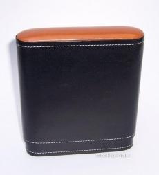 Zigarrenetui Leder schwarz mit Zedernholz für 5 große Cigarren
