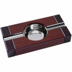 Cigarrenascher Holz Cherry 2-tone mit 2 Ablagen