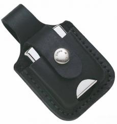 Zippo Ledertasche schwarz Gürtelschlaufe ohne Branding
