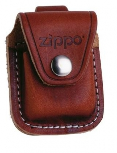 Zippo Ledertasche braun mit Gürtelschlaufe