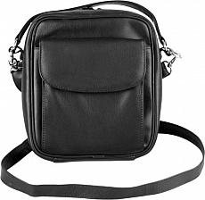 Pfeifen- Herrentasche Leder schwarz Vortasche 8er 22,5 x 21 x 7cm
