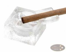 Cigarrenascher Glas mit einer Ablage 9x9cm
