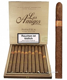 Los Amigos Panatela 10 Zigarren Holzkiste