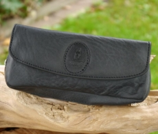 LECERF Pfeifentasche Kombibeutel Leder schwarz CF-2281/N NE
