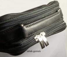 LECERF Pfeifentasche Leder schwarz für 6 Pfeifen 2286 Black