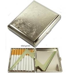 Zigarettenetui 18er Metall chrom Venetian mit Clip