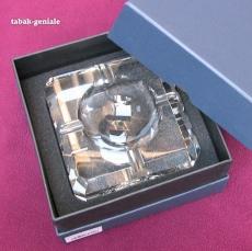 Aschenbecher Kristallglas 4 Ablagen 11x11cm