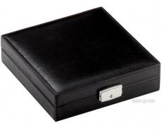 Reisehumidor Leder schwarz 20x20x5.5cm
