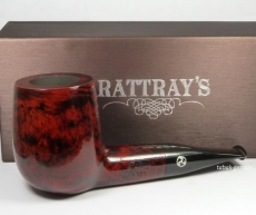 Rattrays Pfeife 1328 burgundy Billiard glatt kurze Giant 9 mm