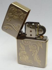 Jam gold bicolor Ranken Benzinfeuerzeug