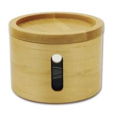 Tabaktopf Holz Lack natur 13×10,5 cm mit Befeuchter