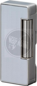Sarome PSD37-03 silver polished lattice alumite Pfeifenfeuerzeug