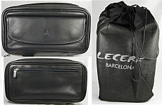 LECERF Pfeifentasche 4er Leder Made in Spain 2283 Black