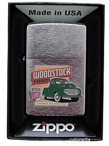 Zippo Ford Woodstock chrom gebürstet