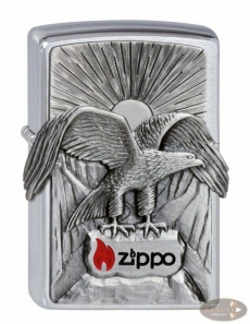 Zippo chrom gebürstet Eagle Zippo 2011 Emblem