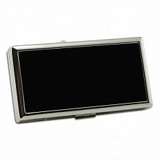 PEARL Zigarettenetui 100 mm 12er Metall silber schwarz