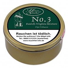 House of Smoke No 3 Danish-Virginia (Vanilla Aromatic) 100g