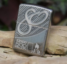 ZIPPO Armor tumbled black chrome Milestone Edition 500 Stück
