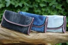 Feinschnitttasche Rollbeutel Coney Jeans 13x8cm