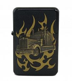 Benzinfeuerzeug Truck mit zusätzl. Gaseinsatz Jetflamme