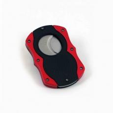Cigarrenabschneider Colibri Monza Cut schwarz/rot 22mm