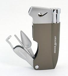 Silver Match Pfeifenfeuerzeug Bayswater mit Pfeifenbesteck 03