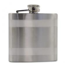 Flachmann Edelstahl 6 oz 170 ml chrom poliert/satiniert