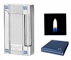 Caseti Paris Feuerzeug NY Schw.Chrom mit Swarovski Elements