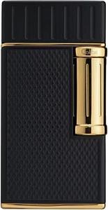 Cigarrenfeuerzeug COLIBRI Julius schwarz/gold Schrägflamme 2er Jet
