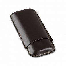 Cigarrenetui 2er Leder braun Robusto 17 x 7.5 cm