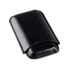 Cigarrenetui 3er Leder schwarz Corona 15 x 8 cm