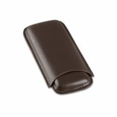 Cigarrenetui 2er Leder braun Corona 14.5 x 7 cm