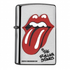 ZIPPO chrom gebürstet Rolling Stones Tongue
