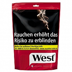 West Red Volume Tobacco 115g Zip Bag
