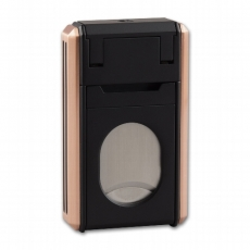 Cigarrenfeuerzeug Astoria schwarz/gold Cutter 24mm