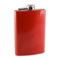 Flachmann Taschenflasche Metall rot 8 oZ 240 ml