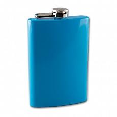 Flachmann Taschenflasche Metall blau 8 oZ 240 ml