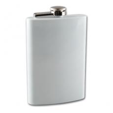 Flachmann Taschenflasche weiß 8 oZ 240 ml