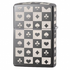 Zippo Black Ice Card Suits