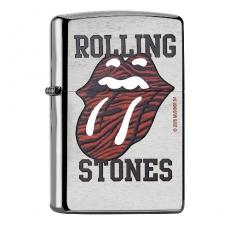 Zippo chrom gebürstet Rolling Stones Zunge