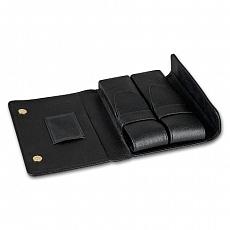 Cigarrenetui 6er schwarz 18cm Überschlag Magnetverschluss
