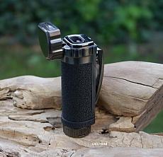 Zigarren Feuerzeug Jam Jet 2fach gun crackle schwarz mit 8mm Cutter