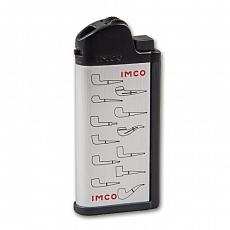 IMCO Chic 4 Pipe LOGO Flint Silver Pfeifenfeuerzeug mit Raucherbesteck