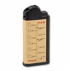 IMCO Chic 4 Pipe LOGO Flint Gold Pfeifenfeuerzeug mit Raucherbesteck